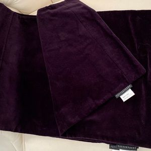 Pottery Barn Set of Four Purple Velvet Placemats